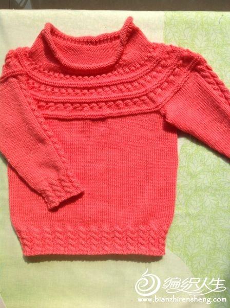 版块:[儿童毛衣(棒针)]可爱宝宝红色毛衣