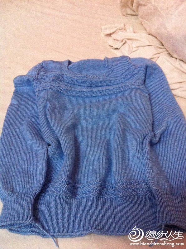 蓝色儿童毛衣