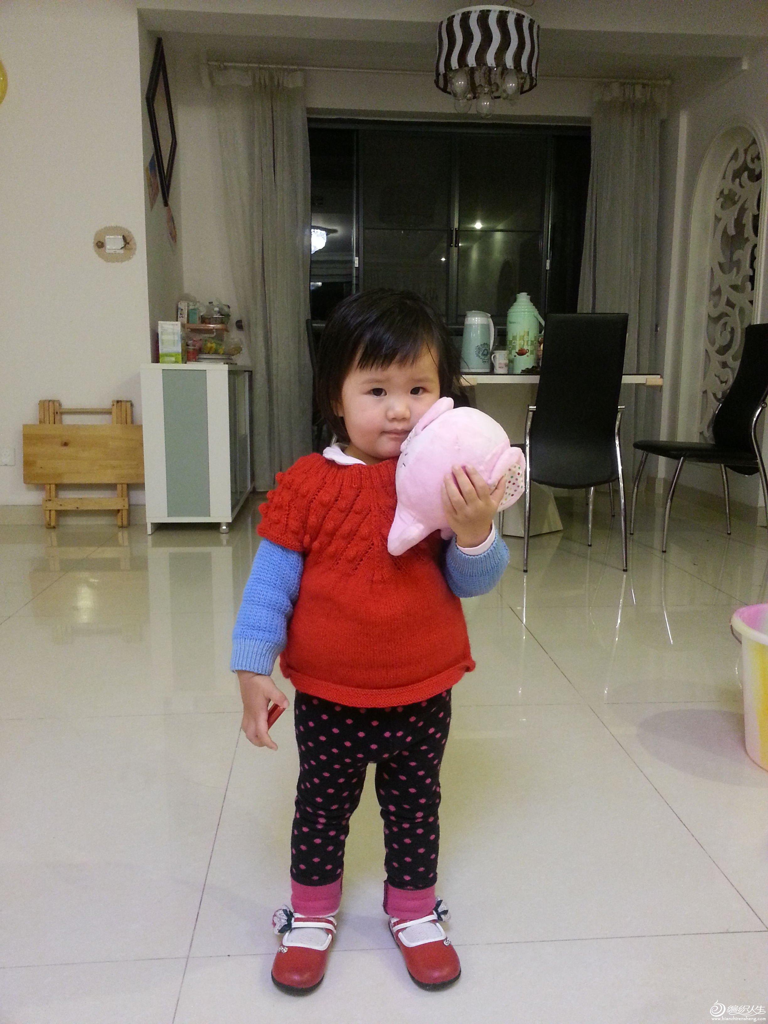 豆豆花可爱背心-2岁女童-仿《辣妈必备的潮宝宝毛衣