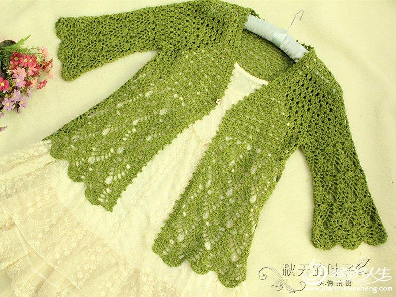 绿萝花——【叶子手工】七分袖应季开衫(有图解)