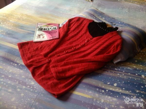 【素娥手工】(2014--07)仙人红——妈妈的本命红开衫 - 素娥 - 宁静的港湾