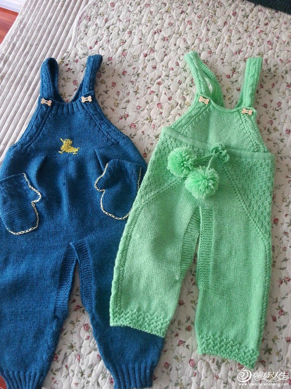 又织宝宝背带裤