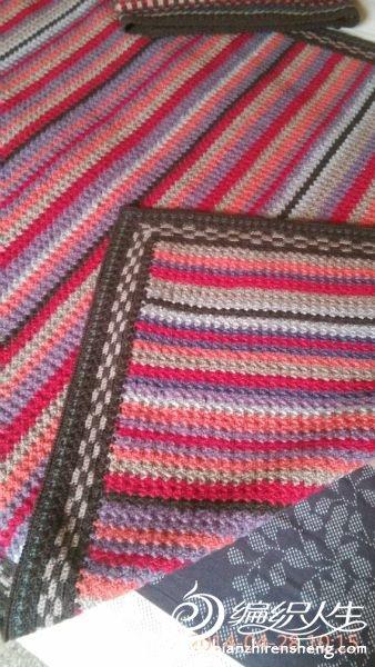 钩针毛毯 花边图解高清图片