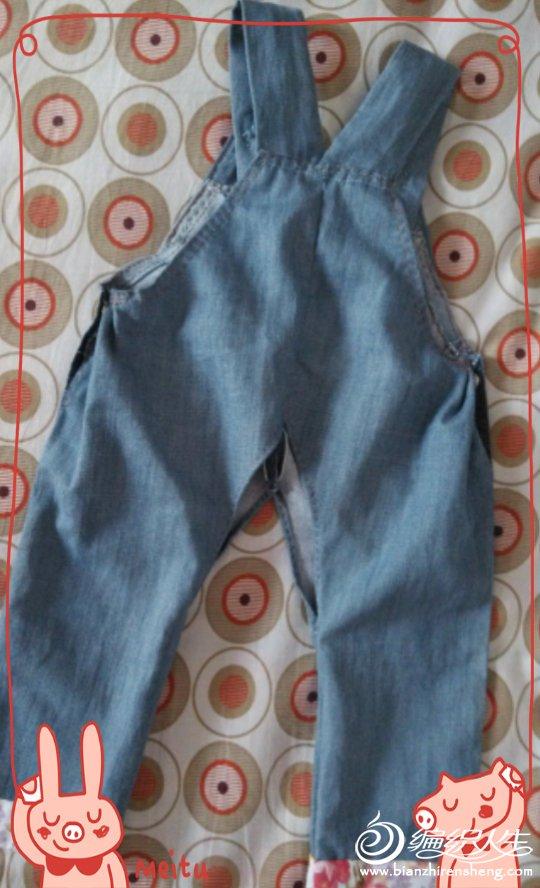 旧牛仔裤改造宝宝背带裤