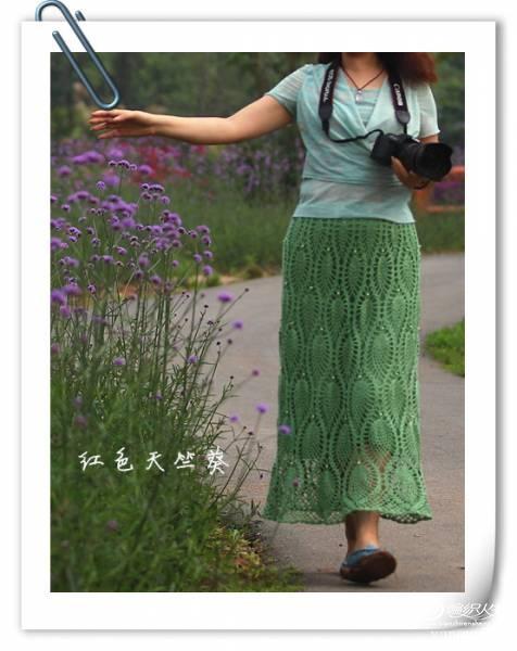 长裙钩织方法图解