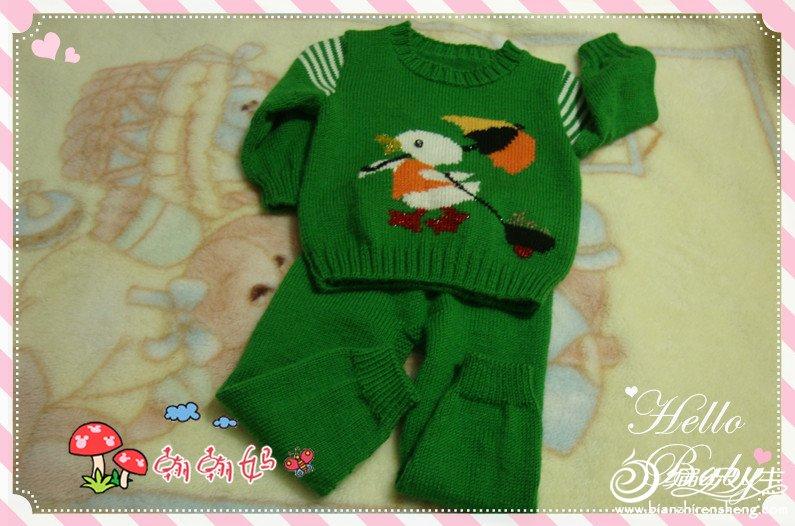 宝宝配色毛衣之可爱的鸭子