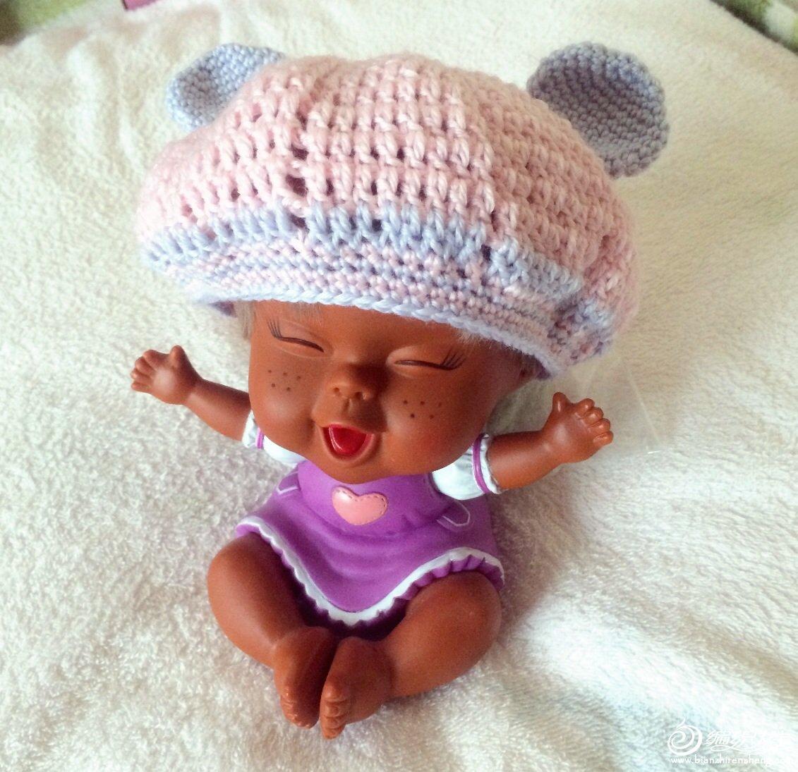 新生儿——日式小耳朵帽子(有图解)