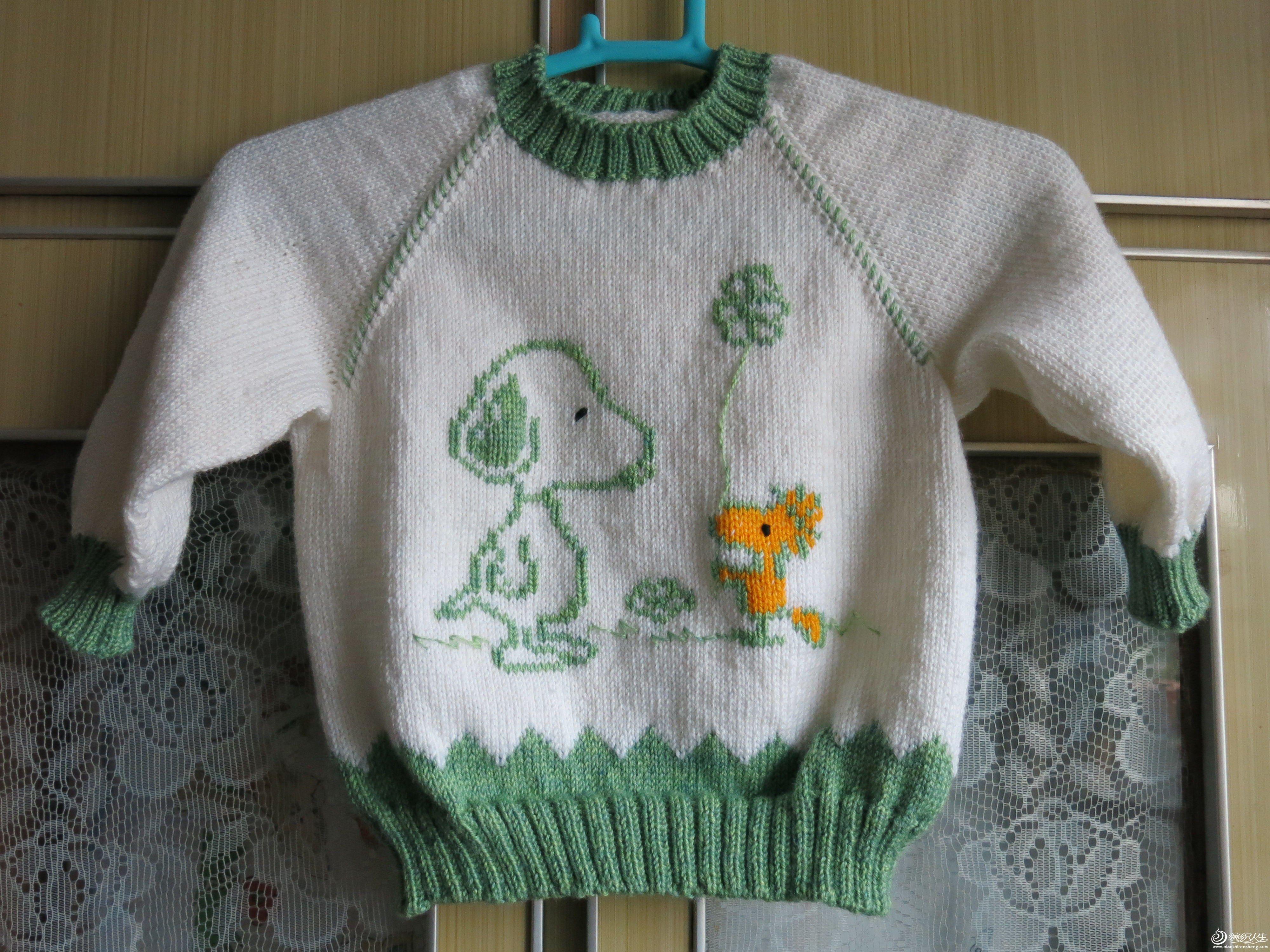 怎么在宝宝毛衣上绣个漂亮的图案