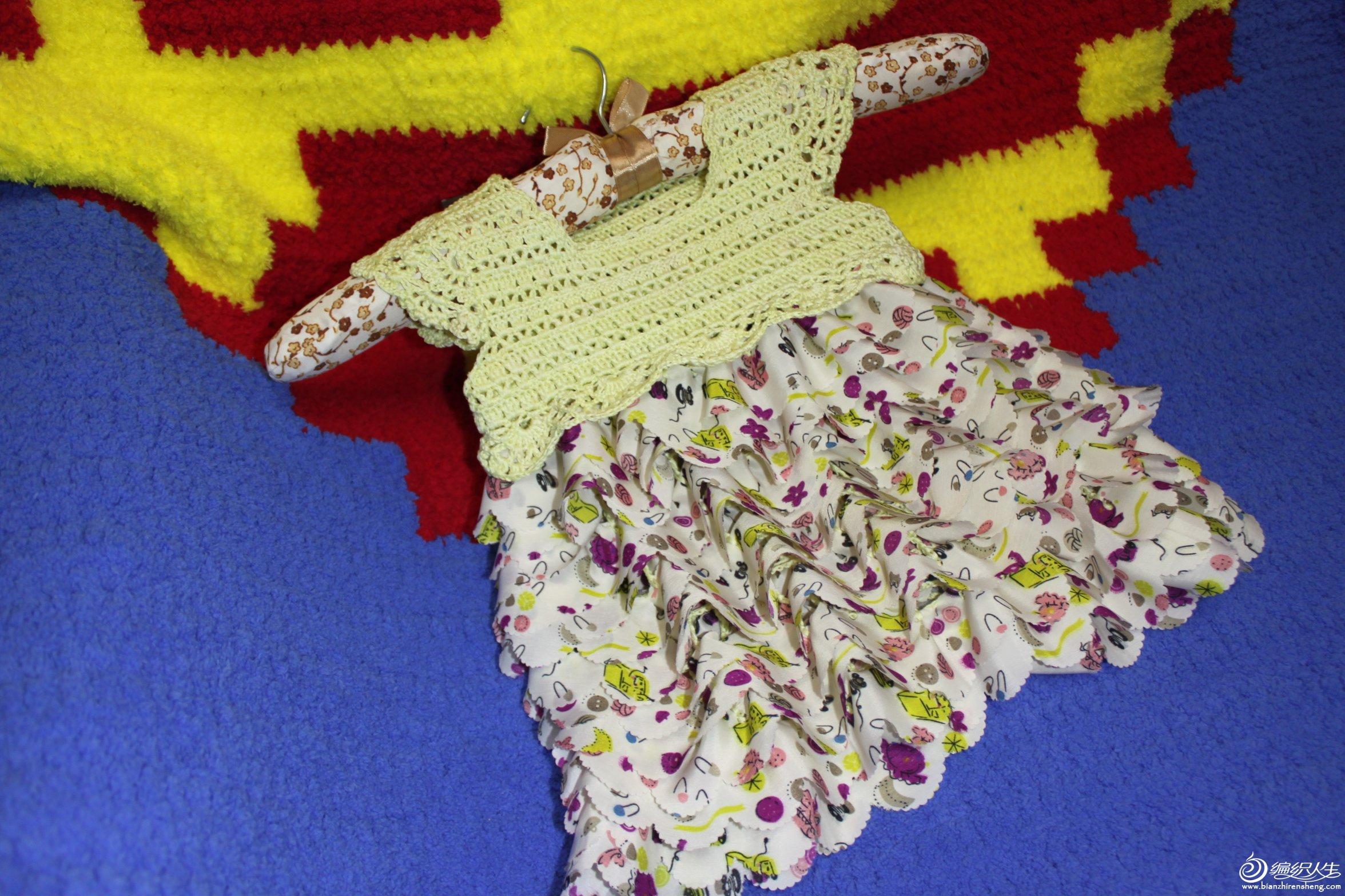 【晨の手作】小可爱——钩针雪纺娃娃裙(有详细图解及视频)