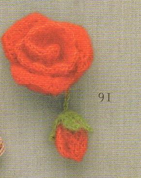 七月七 七朵小玫瑰花的钩法(有图解)