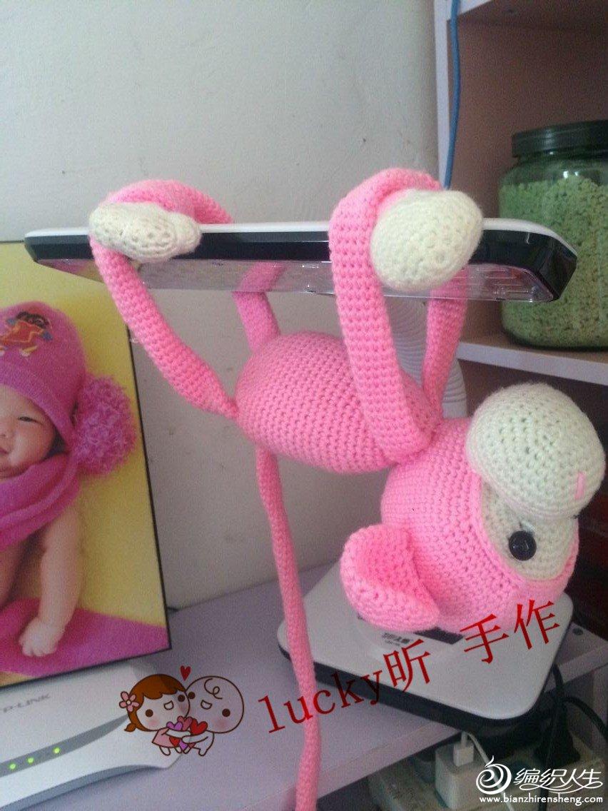小猴子,萌萌哒_玩偶作品&团做_编织人生论坛