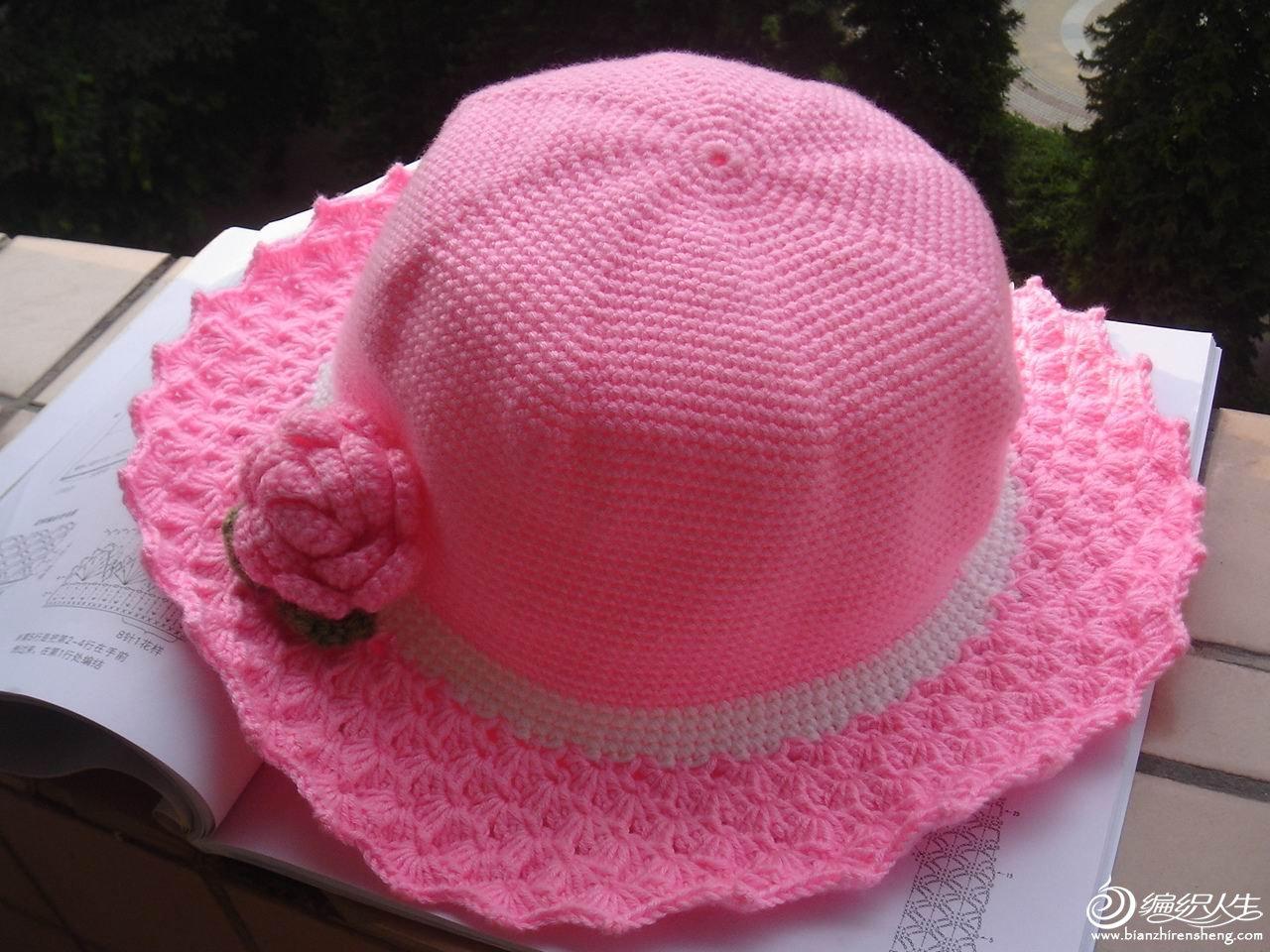 69 钩针编织作品区 69 披肩围巾帽子(钩针) 69 粉红的诱惑,可爱