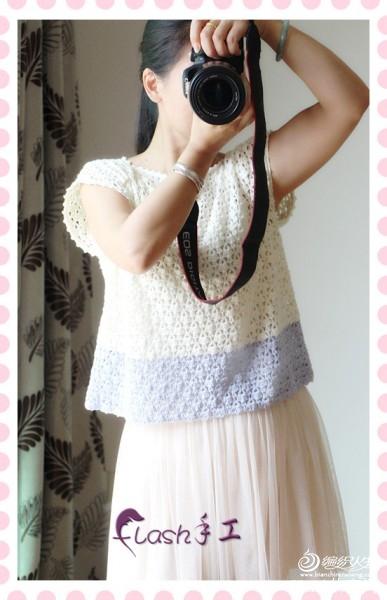白兰(双色拼接短套衫) - 香棠儿 - flash的博客