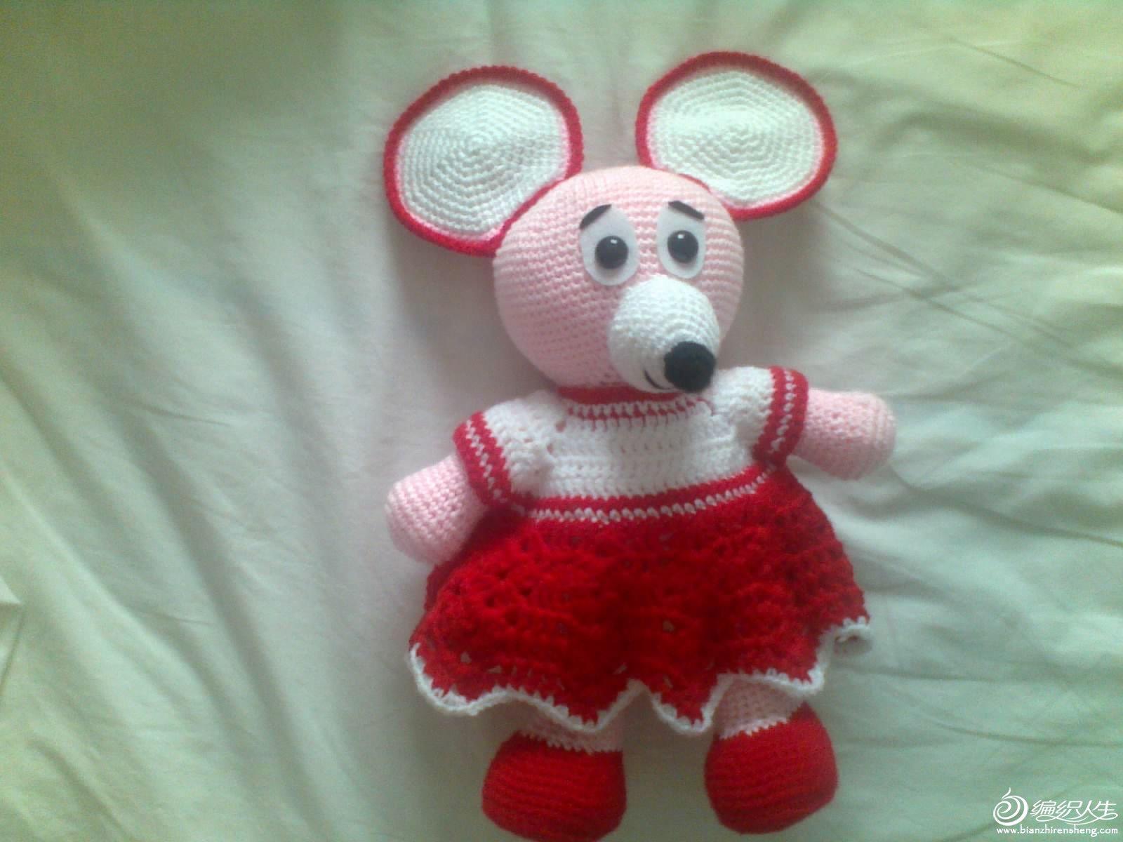 钩的美丽的小老鼠