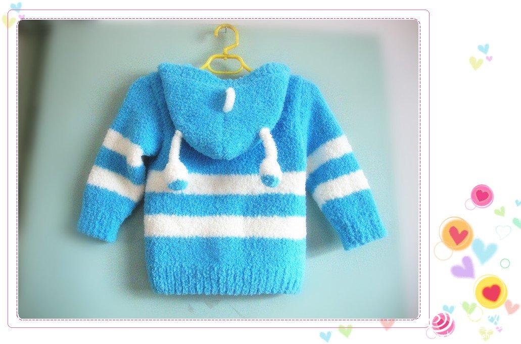 毛巾线编织的宝宝衣服