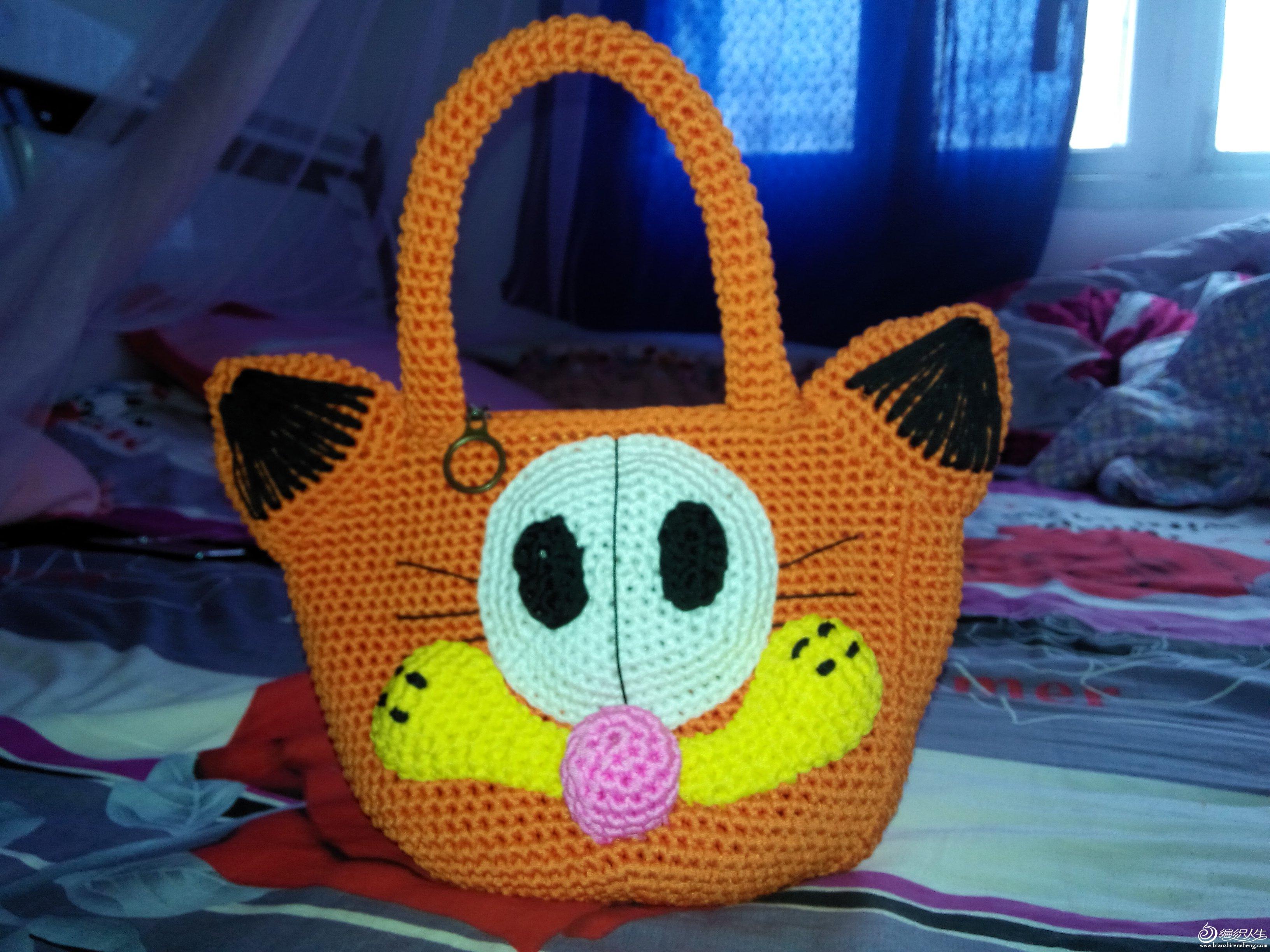 儿童加菲猫包包