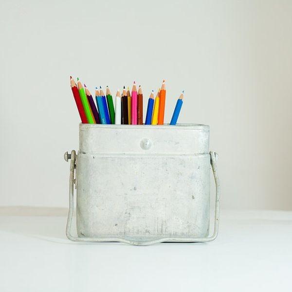 废旧物品手工小制作 diy手作笔筒创意