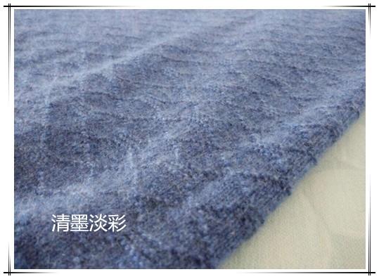 [男式毛衣] [清墨淡彩]牛仔蓝——儿子的上下针提花羊绒套头衫 - yn595959 - yn595959 彦妮