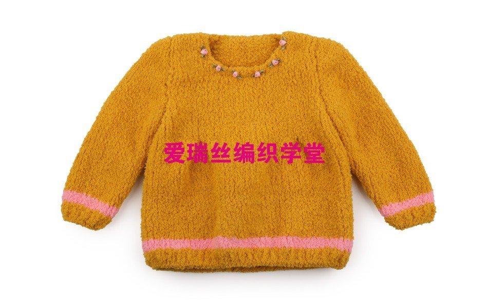 【爱瑞丝编织学堂】宝宝绒绒线马甲——韩版小裙编织方法详解教程