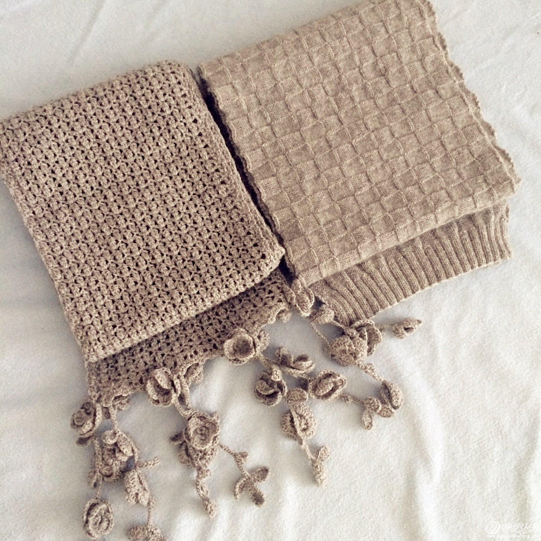 方块针围巾的织法图解 图片合集
