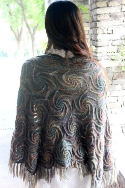 【视频】复古风车单元花披肩--巴素兰韵味--附带视频讲解 - 丹丹knit - 中国编织艺术