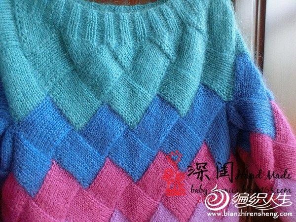 彩虹毛衣归来——有详细编织过程文字说明超多室外真人秀【深闺】