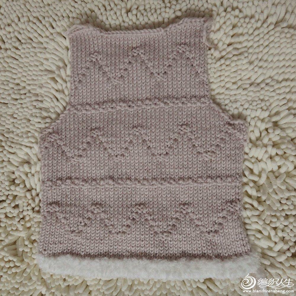 宝宝马甲背心马褂棒针编织步骤讲解