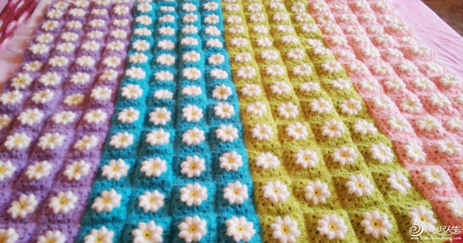 钩毯子花边图解