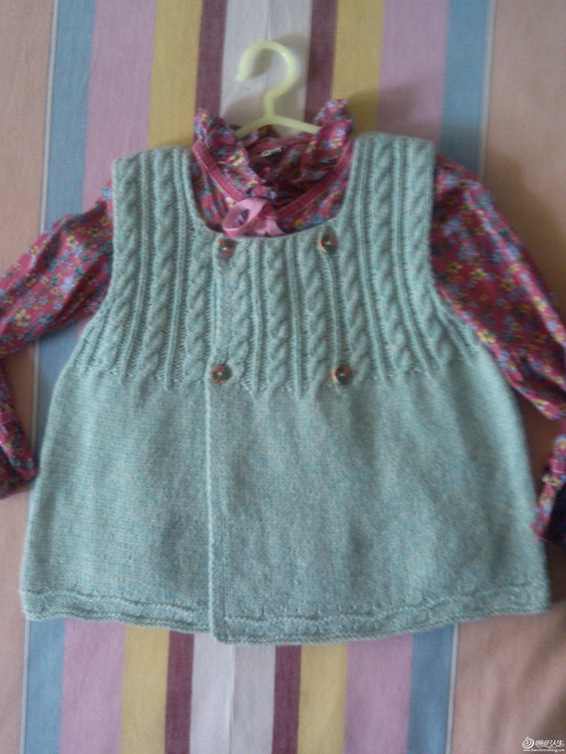 儿童服饰编织交流 69 儿童毛衣(棒针) 69 小罗莉背心裙十图解