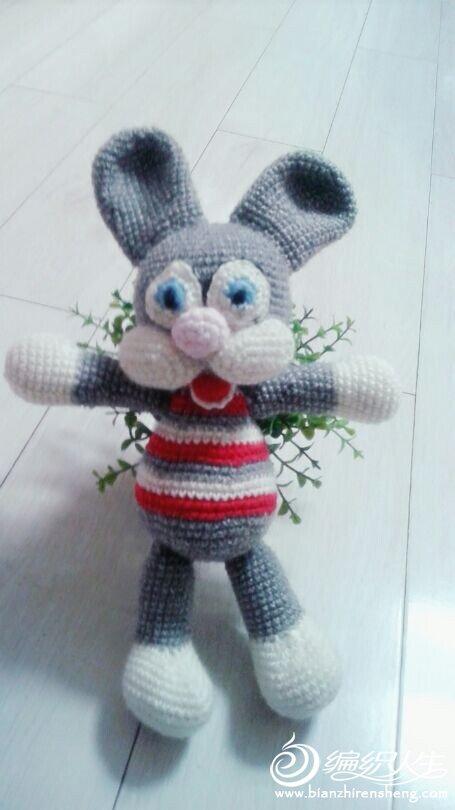 专题 兔子娃娃       布偶娃娃 版块:[]这些时很喜欢毛线玩偶{:2_90:}