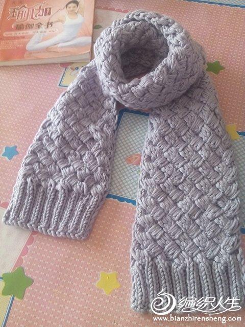 初学织围巾接线的步骤图片