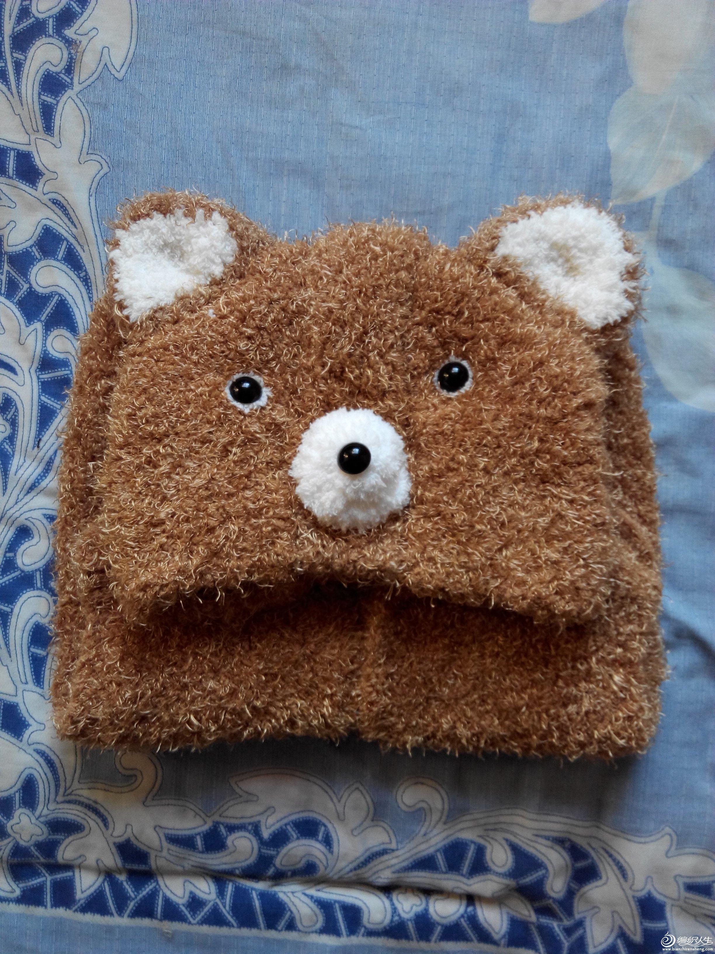 给小外甥织的小熊马甲_编织人生论坛