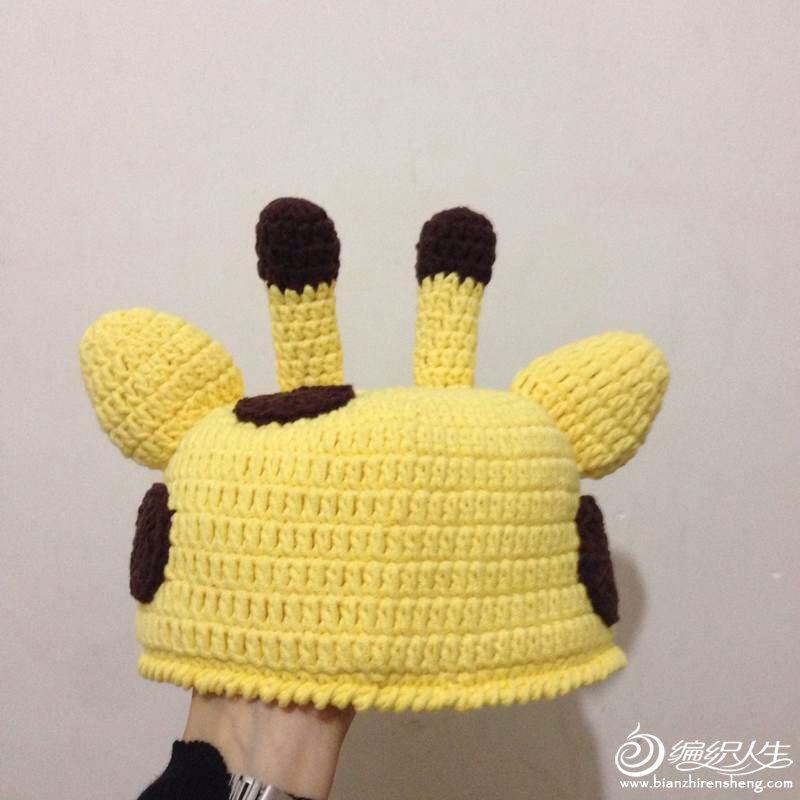 【美织织作品】钩针儿童帽子卡通动物长颈鹿造型 有图解