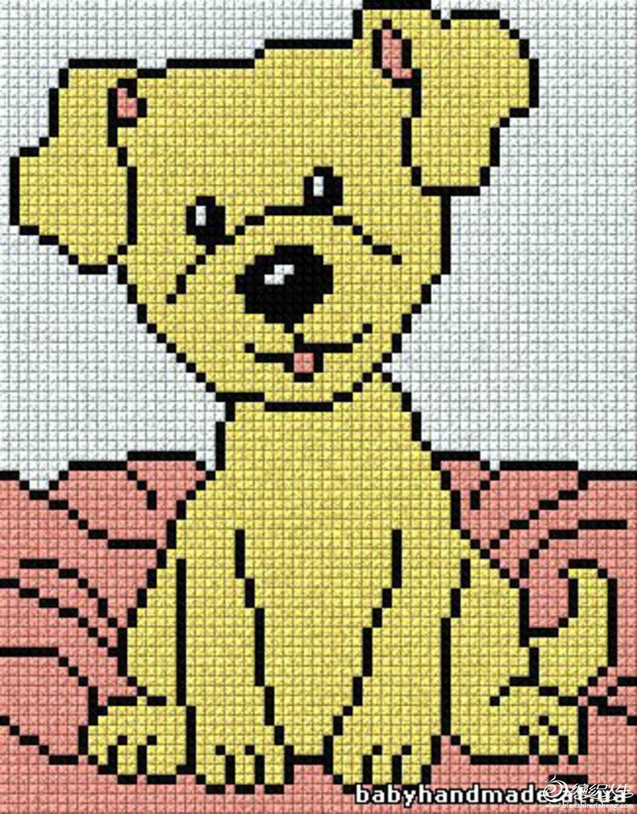编织交流 69 儿童毛衣图解图库 69 漂亮的配色图案集——动物(转)
