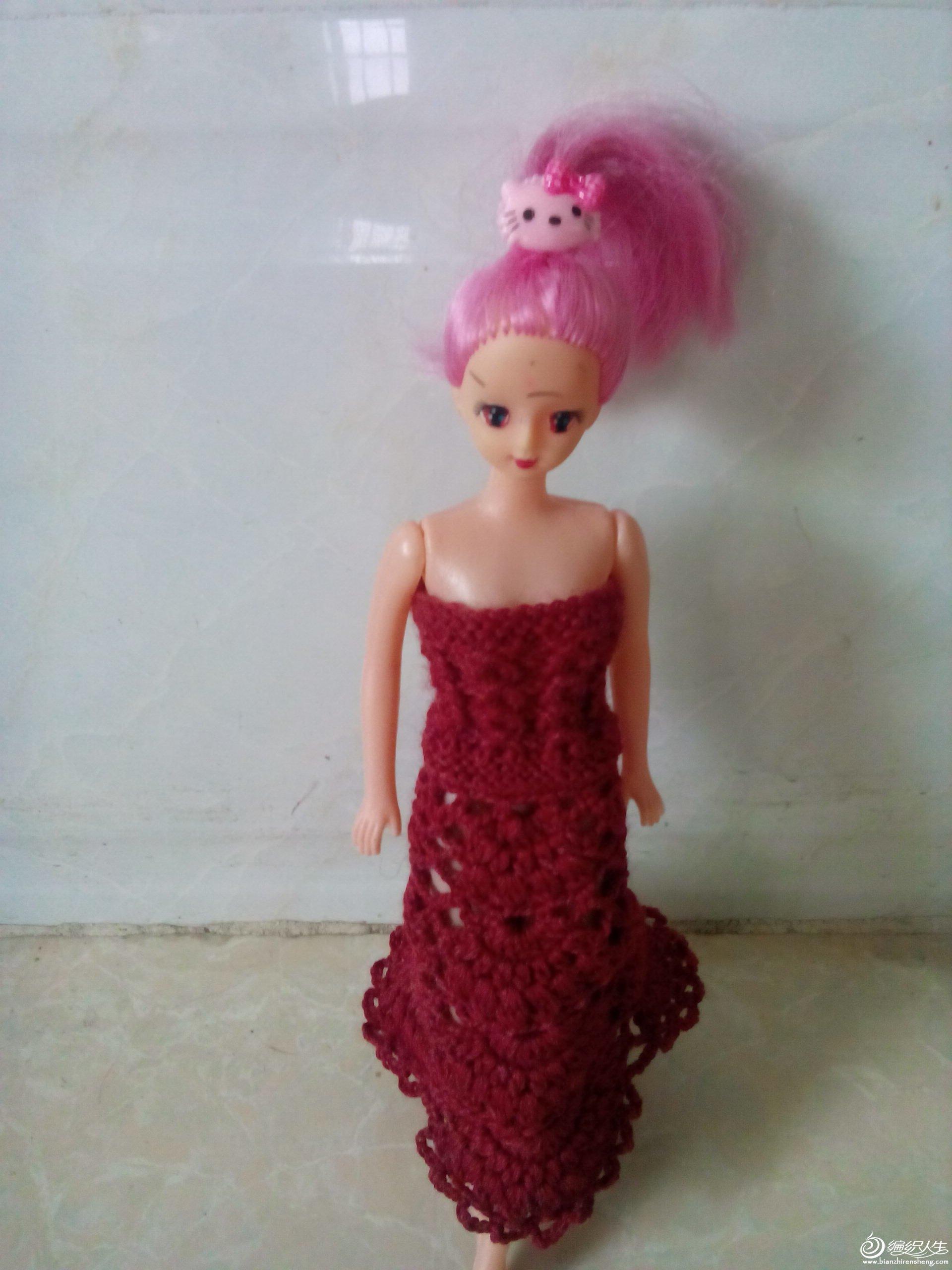 女儿的芭比娃娃礼服
