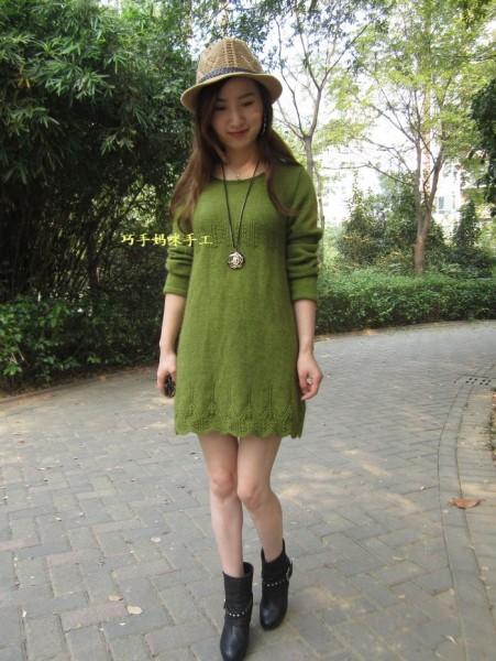 【巧手妈咪】-----春晓-----草绿色中长裙 - 静夜思梦 - 以编为趣