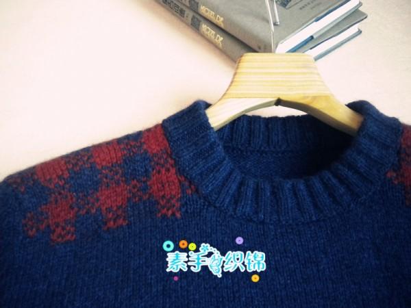 素手织锦---相宜----男士提花羊绒衫 - 静夜思梦 - 以编为趣
