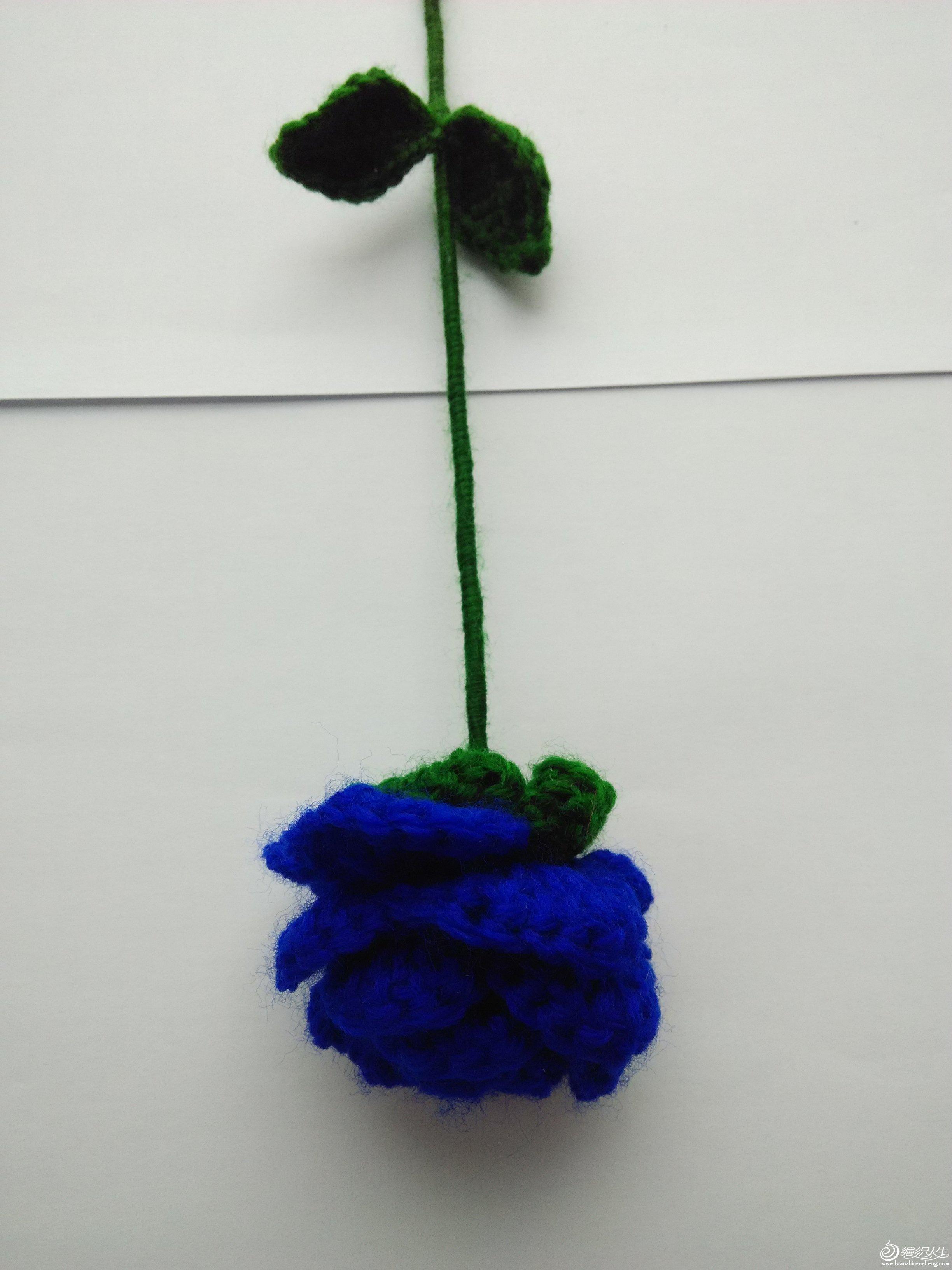 手工毛线玫瑰花