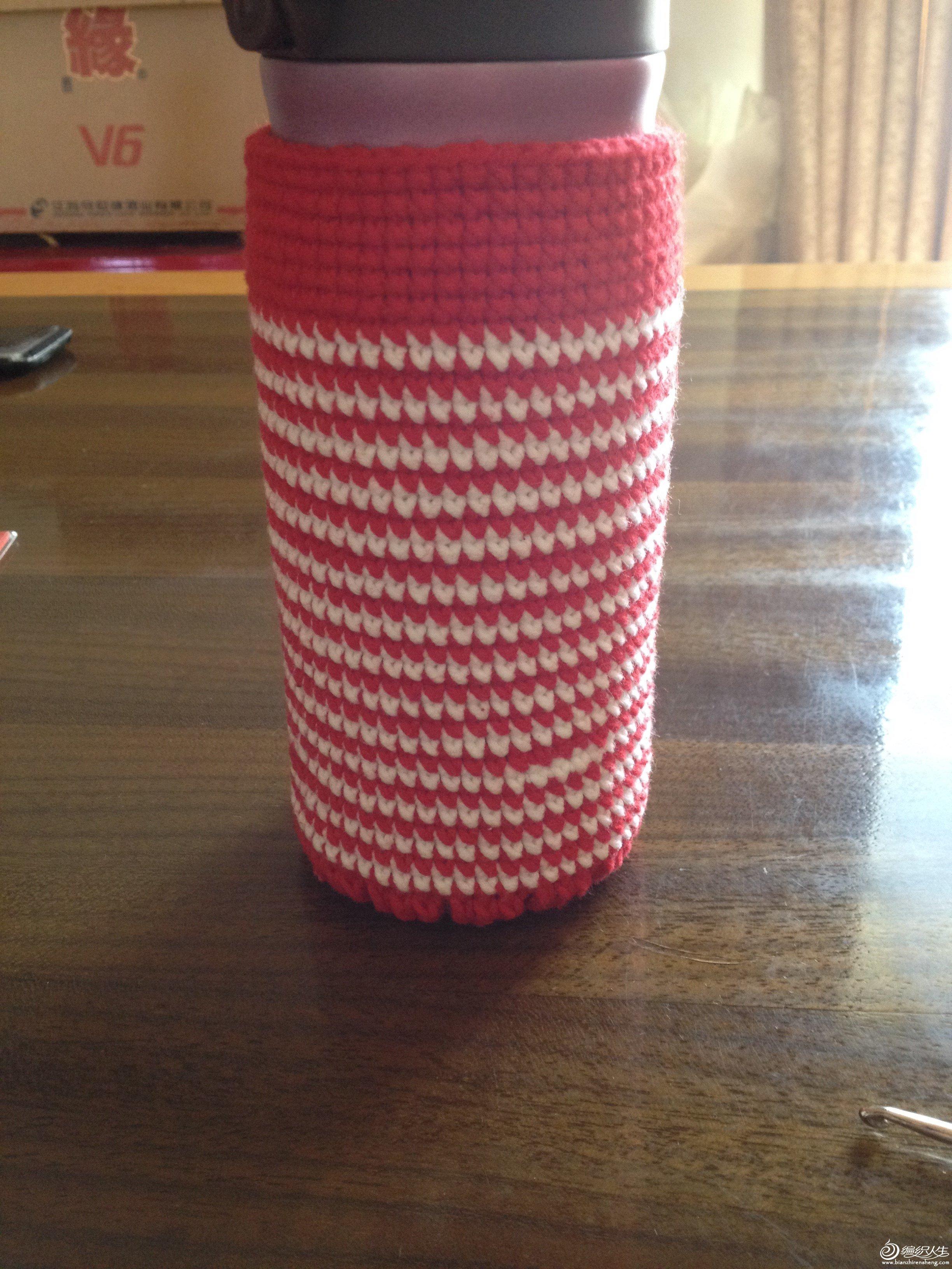 69 钩针编织作品秀 69 新年快乐,年前小手工--杯套