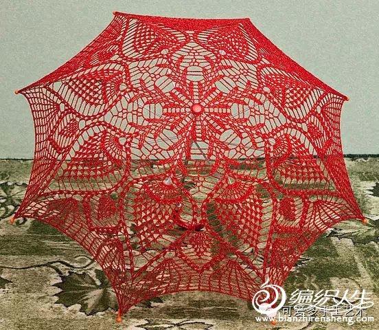 图库&图解资料区 69 (钩针)服装配饰&家居 69 分享一一钩织雨伞