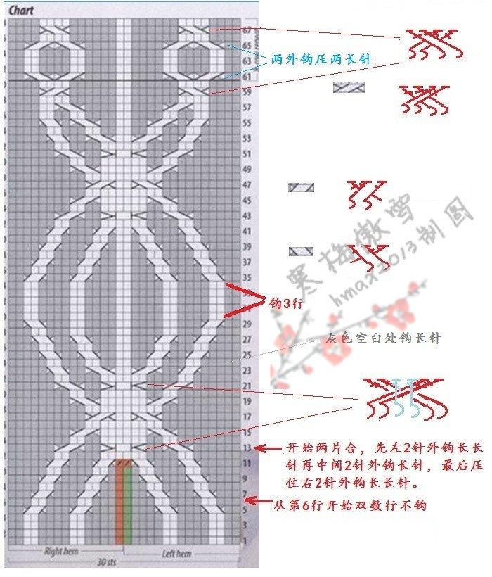 363636016845703px] 钩针图解:  [size=16.