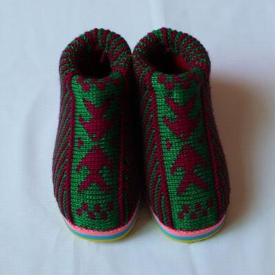 毛线棉鞋织法