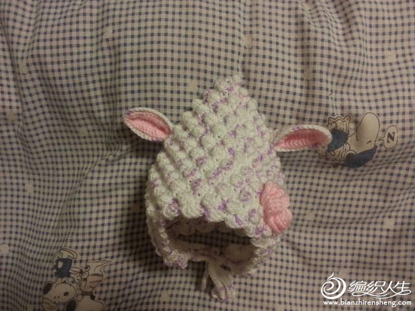 可爱的钩针小羊帽子