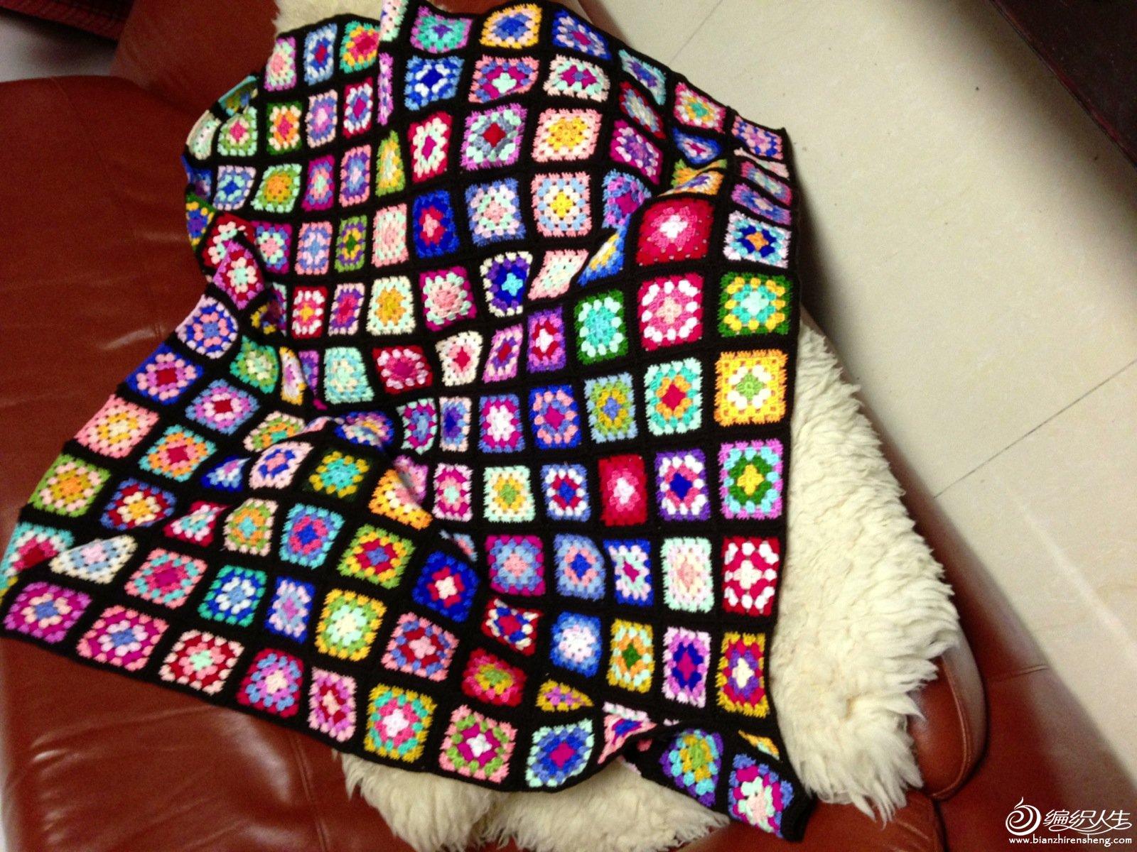 祖母方格拼花毯