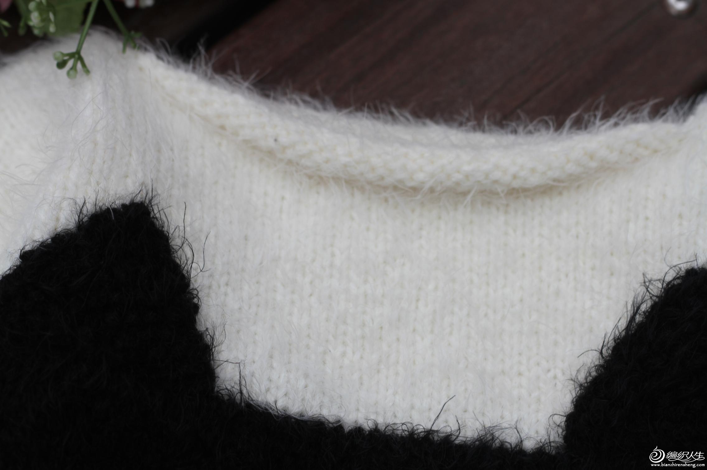 儿童毛衣-可爱的黑白猫