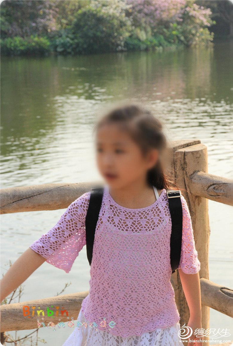 女童夏季蕾丝钩衣