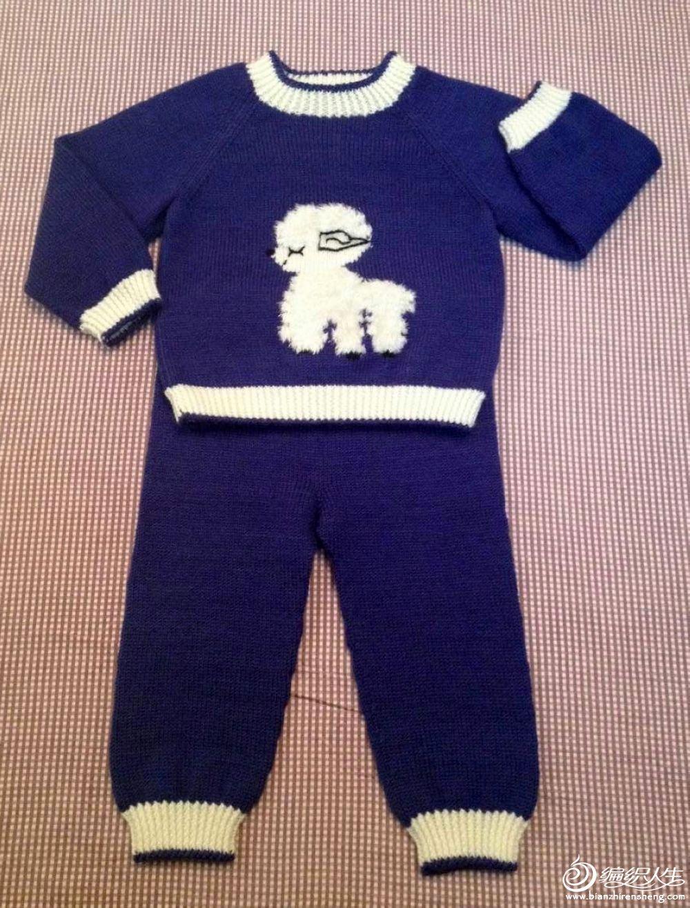 首页 居家生活 手工制作 > [50~80cm婴幼儿毛衣] 羞涩的羊宝宝套衫—