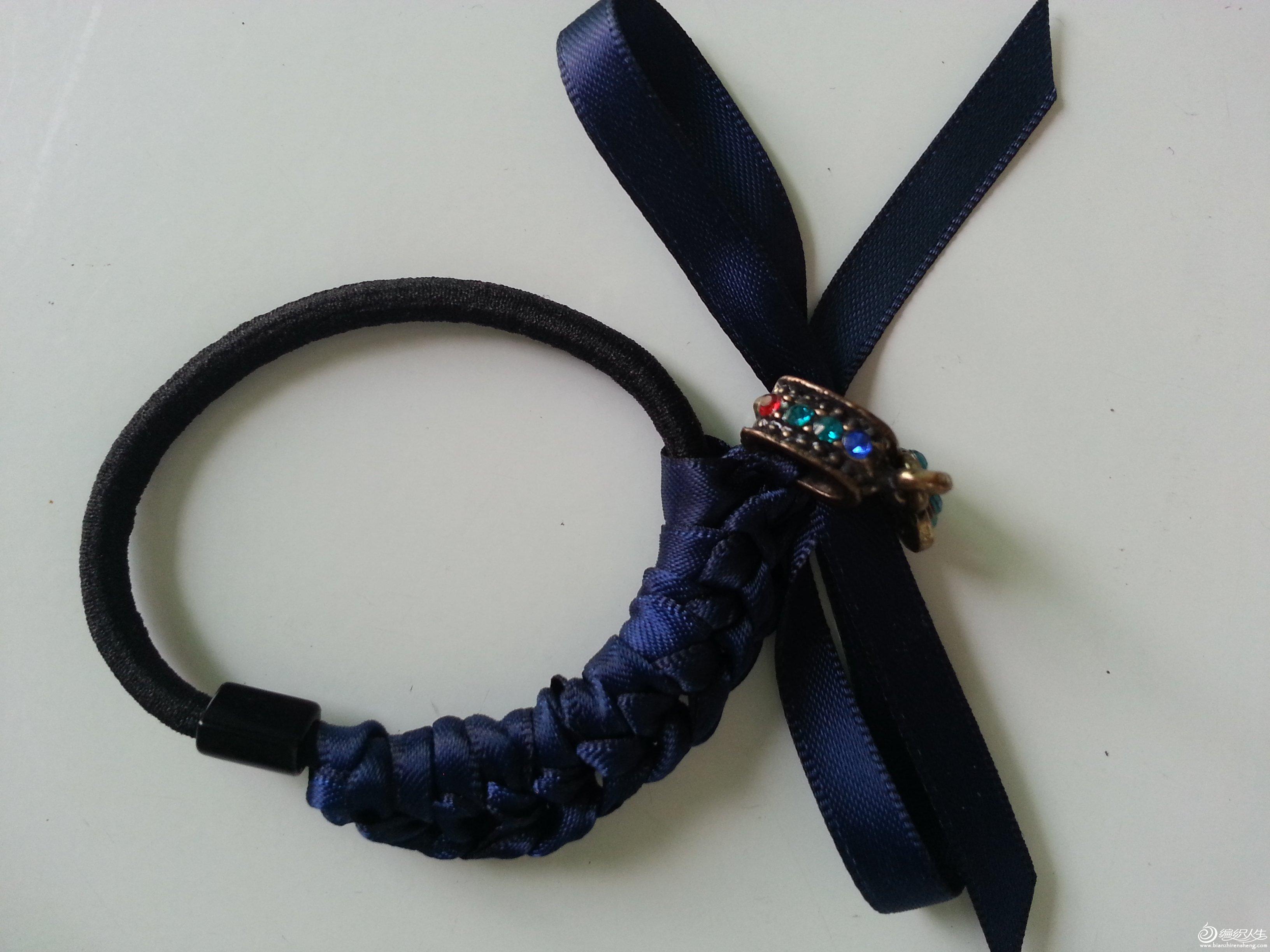丝带钩针发饰