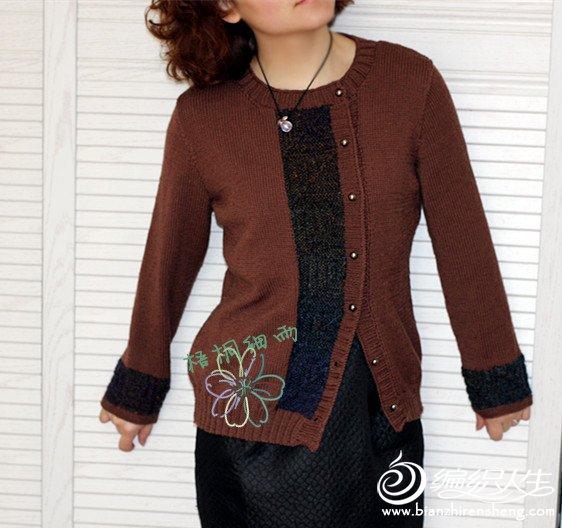 女士优雅复古开衫毛衣