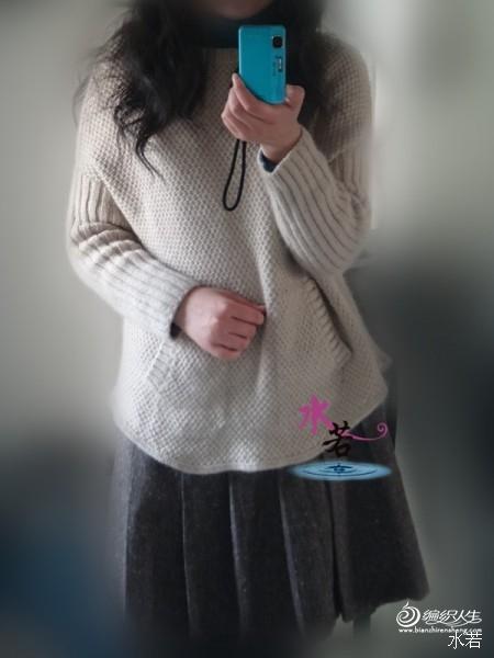 [套头衫] 水若作品——漫步(女士蝙蝠袖圆领休闲套头衫 - yn595959 - yn595959 彦妮